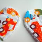 Organic Toddler bib Cars