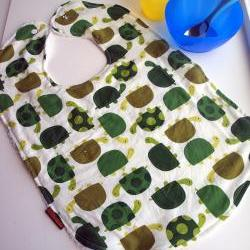 boys bib toddler bib - turtles green
