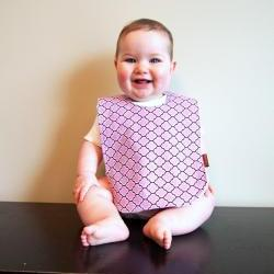 Baby girl bib minky Bib lilac purple