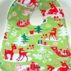 Christmas Terry cloth bib baby bib toddler bib